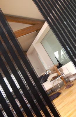 bali black camo panel blind