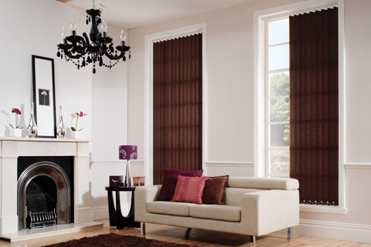 marle chestnut vertical blinds