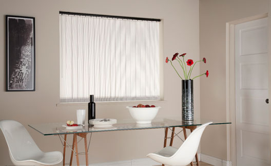 saville row white piano black vertical blind
