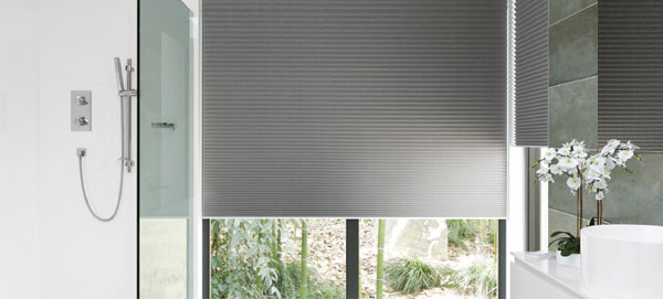pleated blind grey