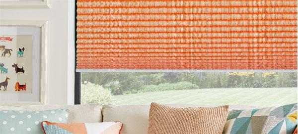 pleated blind orange