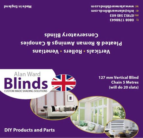 127mm vertical blind chains 5m product label