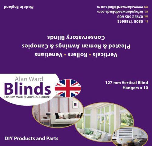 127mm vertical blinds hangers product label