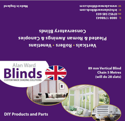 89mm vertical blind chain 5 metres