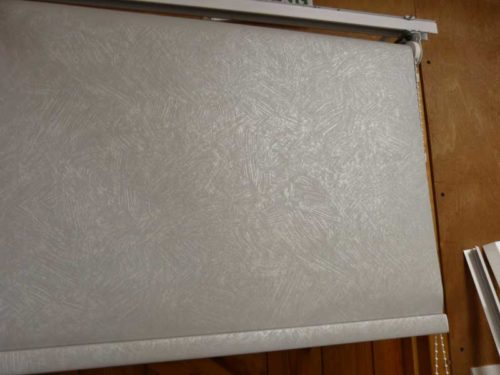 roller blind pvc blackout romany light grey 115cm 89cm